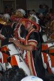 De band van Carnaval in Montevideo, Uruguay, 2008. Royalty-vrije Stock Foto's