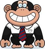 De Band van de beeldverhaalchimpansee royalty-vrije illustratie