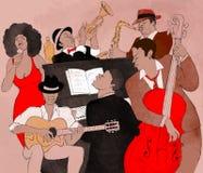 De band van de jazz Stock Afbeelding