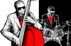 De band van de jazz Stock Afbeeldingen
