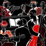De band van de jazz Stock Foto's