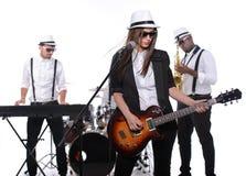 De band van de muziek stock foto