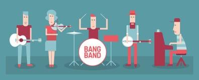 De band van de muziek royalty-vrije illustratie