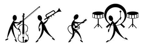 De band van de muziek Royalty-vrije Stock Fotografie