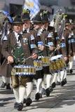 De band van de muziek in historische kleren Royalty-vrije Stock Afbeelding