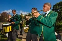 De Band van de Muziek van de Fietsers van het ras   Stock Foto