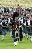 De band van de pijp in Edinburgh Royalty-vrije Stock Foto's