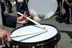 De band van de school bij parade Royalty-vrije Stock Foto's