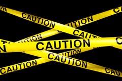 De band van de voorzichtigheid stock illustratie