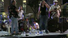 De Band van de zomerblauw bij Nacht stock video