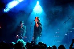 De band van het Iceagepunk rock in overleg bij Apolo-het Geluid 2015 van stadiumprimavera Stock Foto's