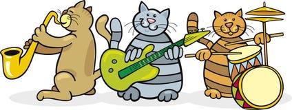 De band van katten Stock Afbeelding