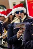 De band van Santa Claus Royalty-vrije Stock Afbeeldingen