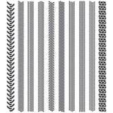 De band volgt patronen Een reeks van gedetailleerd bandloopvlak Royalty-vrije Stock Foto