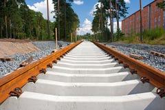 De banden van de spoorweg stock foto