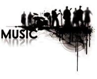 De bandGeluid van de muziek Stock Foto's