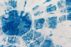 De de bandkleurstof van de stoffenindigo als achtergrond en textuur Stock Foto's
