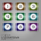 De Bandontwerp van de bioskoopfilm Het winkelen markeringen en pictogrammen Creatieve Geïsoleerde Filmillustratie EPS10 Royalty-vrije Stock Fotografie