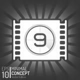 De Bandontwerp van de bioskoopfilm Het winkelen markeringen en pictogrammen Minimale Geïsoleerde Filmillustratie EPS10 Royalty-vrije Stock Foto
