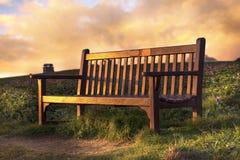 De bank bij de zonsopgang Royalty-vrije Stock Afbeeldingen
