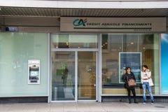 De bank van Crédit Agricole Royalty-vrije Stock Foto's