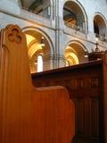 De bank van de kerk Stock Afbeeldingen
