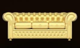 De bank van de luxe met gouden leer Royalty-vrije Illustratie