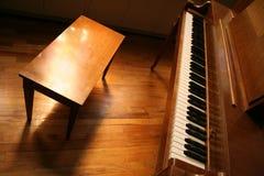 De Bank van de piano Stock Foto's