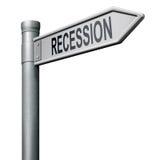 De bank van de recessie of de financiële crisisvoorraad verplettert Stock Afbeeldingen