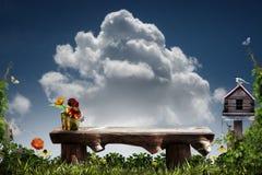De bank van de tuin stock afbeelding