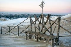 De bank van de winter Royalty-vrije Stock Afbeelding