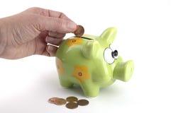 De Bank van het muntstuk stock afbeeldingen