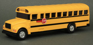 De Bank van het Muntstuk van de Bus van de school Stock Foto's
