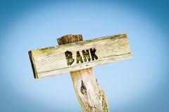 De Bank van het straatteken royalty-vrije stock afbeeldingen