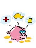 De bank van het varkensgeld stock illustratie