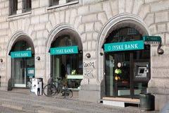De Bank van Jyske in Denemarken Stock Foto