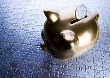De bank van Pigg Stock Foto