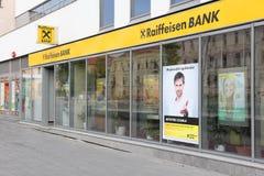 De Bank van Raiffeisen Stock Afbeeldingen