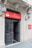 De Bank van Santander Royalty-vrije Stock Fotografie