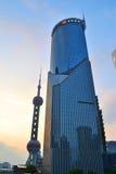 De Bank van Shanghai van de Toren van China Royalty-vrije Stock Afbeeldingen