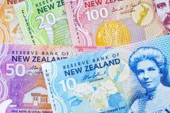 De Bankbiljetten Backkground van Nieuw Zeeland Stock Afbeeldingen