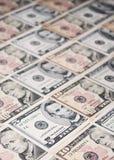 De Bankbiljetten van de dollar Stock Afbeelding