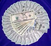De bankbiljetten van de dollar Stock Foto's