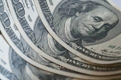 De bankbiljetten van de dollar royalty-vrije stock foto