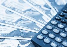 De bankbiljetten van de dollar, abstract bedrijfsgeld Royalty-vrije Stock Foto's