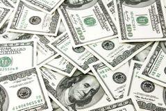 De bankbiljetten van de dollar, achtergrond Royalty-vrije Stock Afbeelding