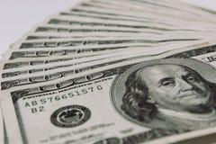 100 de bankbiljetten van de Dollars van de V S dollar Stock Foto