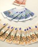 De bankbiljetten van euro Royalty-vrije Stock Afbeelding