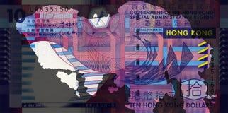 De Bankbiljetten van Hongkong Royalty-vrije Stock Foto