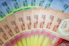 De bankbiljetten van Kaapverdië stock foto